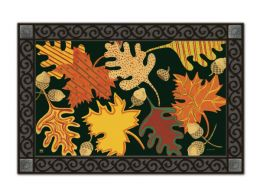 Indoor & Outdoor MatMates Doormat - Patterned Leaves