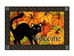 Indoor & Outdoor MatMates Doormat - Pumpkin Patch Cat