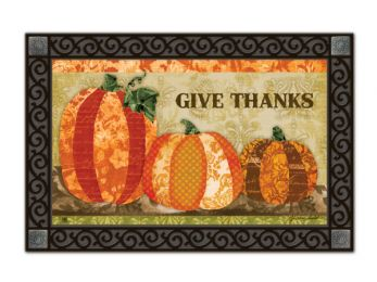 Indoor & Outdoor MatMates Doormat - Pumpkin Tapestry