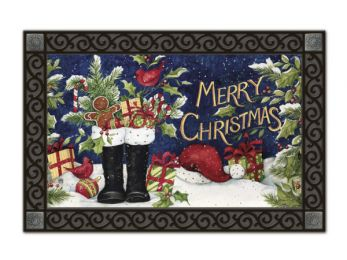 Indoor & Outdoor MatMates Doormat - Santa's Boots