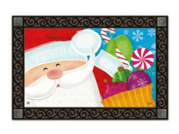 Indoor & Outdoor MatMates Doormat - Santa's Here