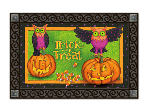 Indoor & Outdoor MatMates Doormat - Trick or Treat Owls