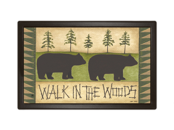 Indoor & Outdoor MatMates Doormat - Walk in the Woods