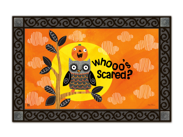Indoor & Outdoor MatMates Doormat - Who's Scared