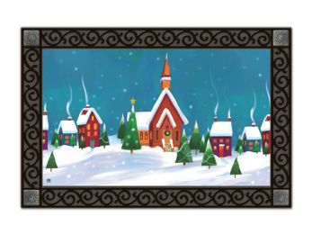 Indoor & Outdoor MatMates Doormat - Winter Village