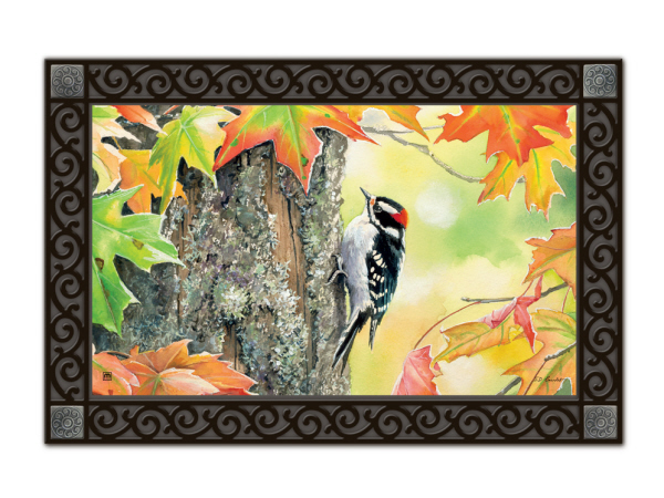 Indoor & Outdoor MatMates Doormat - Woodpecker