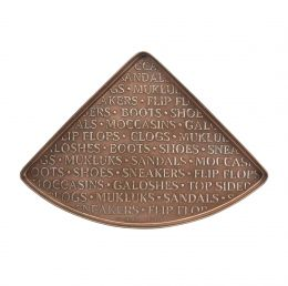 Embossed International Copper Corner Boot Tray - 22 x 31 x 2