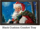 Indoor & Outdoor Jolly Santa Insert Doormat-18x30