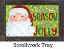 Indoor & Outdoor Jolly St. Nick MatMate Doormat-18x30