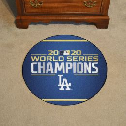 LA Dodgers 2020 World Series Champs Ball Shaped Area Rugs