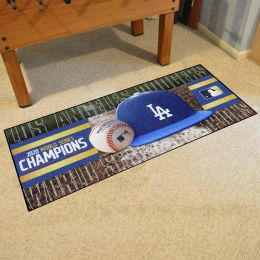 LA Dodgers 2020 World Series Champs Field Championship Runner Mat