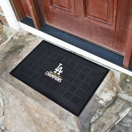 "LA Dodgers 2020 World Series Champs Logo Doormat - Vinyl 18"" x 30"""