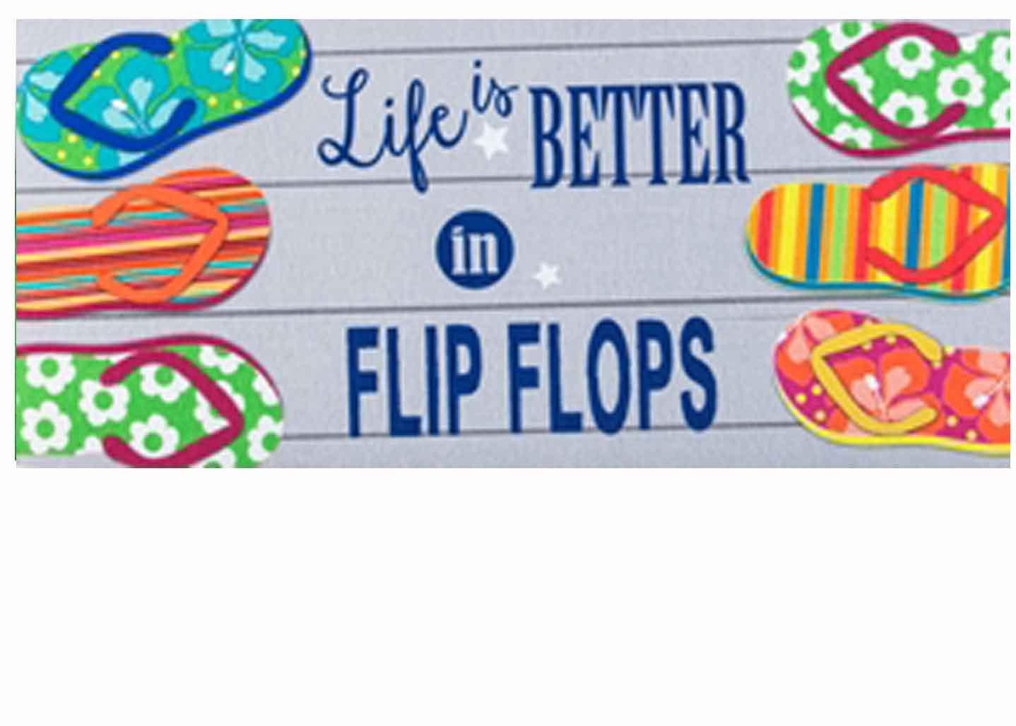 Sassafras Better In Flip Flops Mat 10 X 22 Insert Doormat