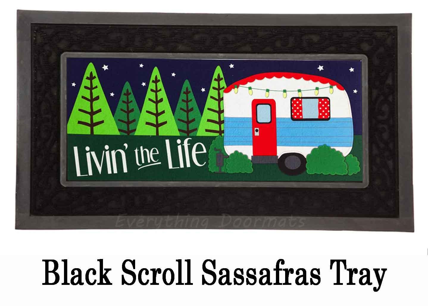 Sassafras Live The Life Mat 10 X 22 Insert Doormat