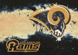 Los Angeles Rams Fade Logo Area Rug - NFL Football Mat