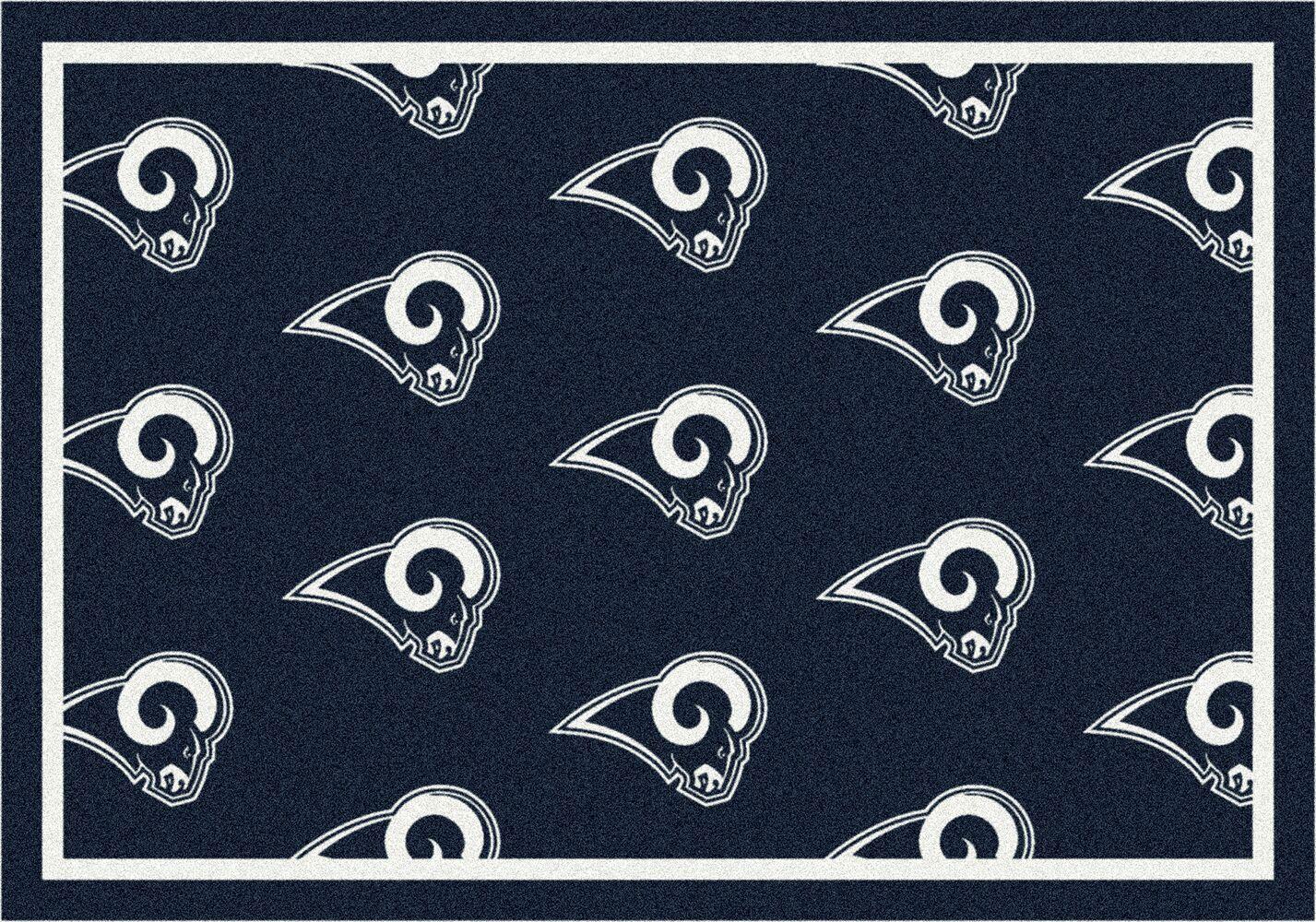 Los Angeles Rams Reapeting Logo Area Rug
