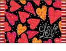 Indoor & Outdoor Love Hearts MatMate Doormat - 18 x 30