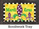 Indoor & Outdoor Mardi Gras Fun MatMate Doormat - 18 x 30