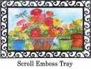 Indoor & Outdoor Marigolds & Zinnias MatMate Doormat-18x30