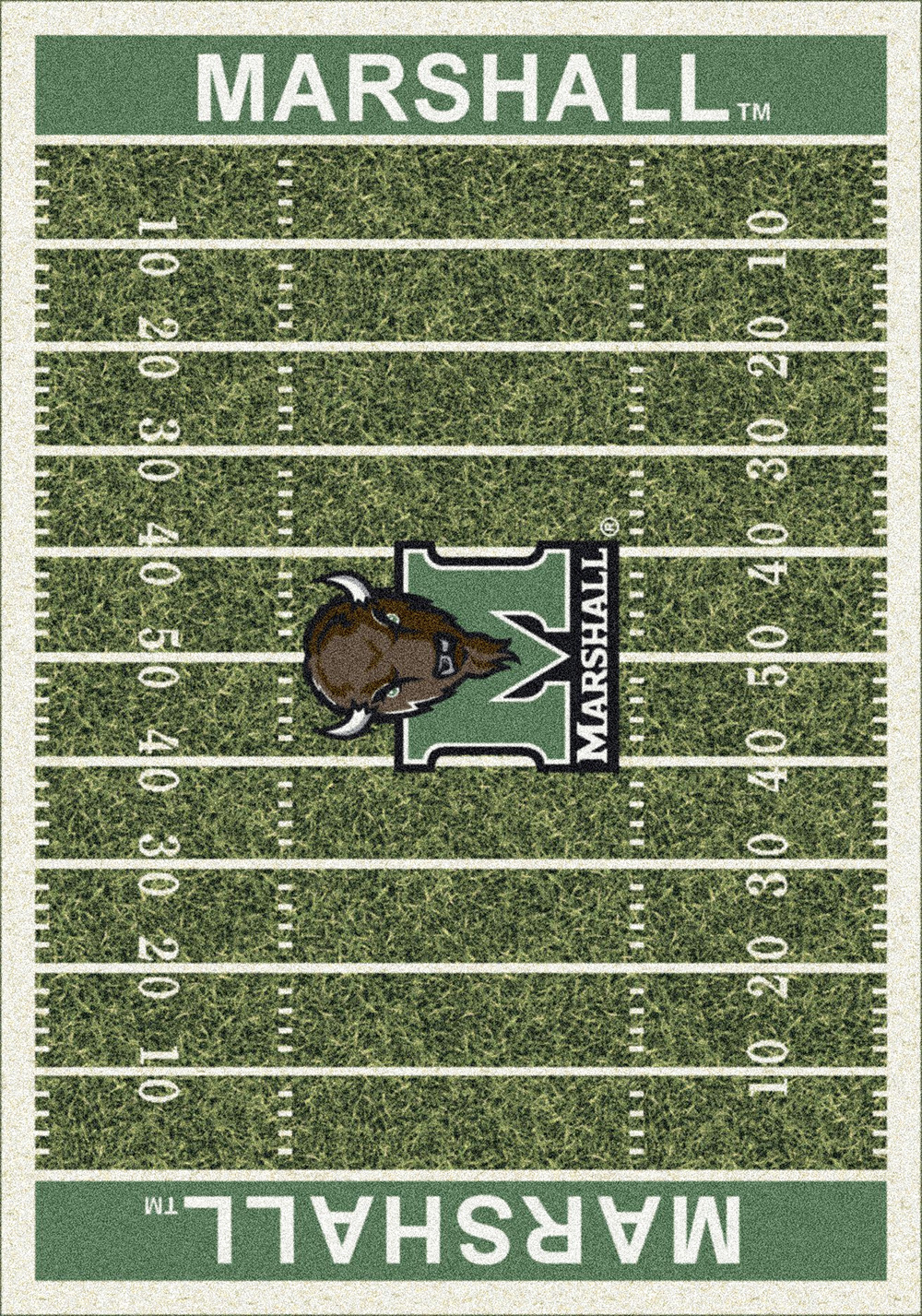 Marshall Thundering Herd Home Field Nylon Area Rug