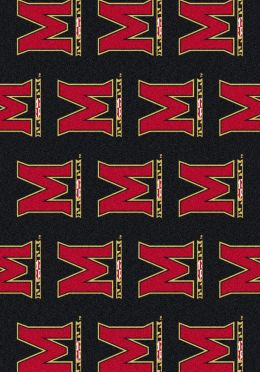 University of Maryland Terps Repeat Logo Nylon Area Rug