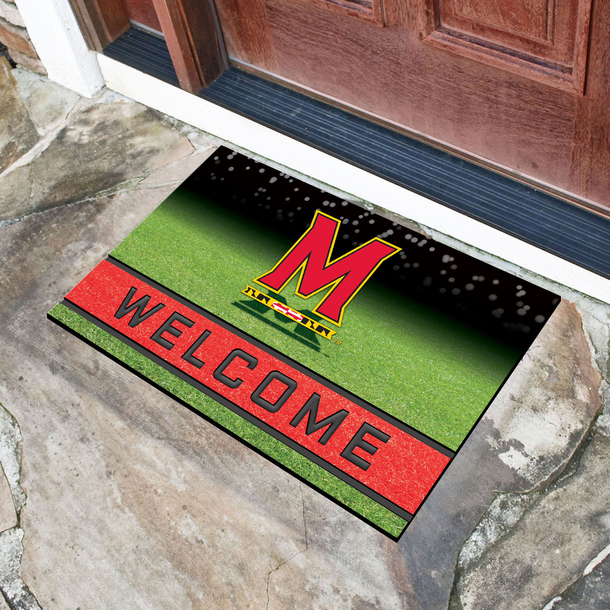 Maryland  University Flocked Rubber Doormat - 18 x 30