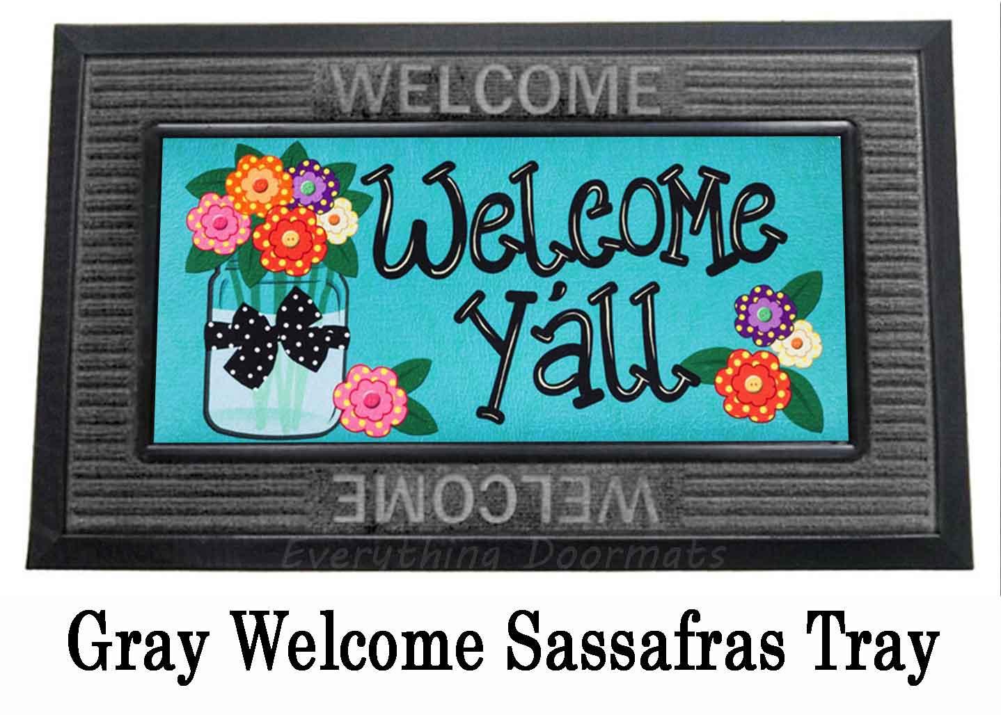 Sassafras Mason Jar Welcome Ya 226 Ll Mat 10 X 22 Doormat