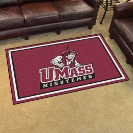 Massachusetts University Area Rug - 4 x 6 Nylon
