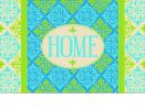 Indoor & Outdoor Medallion Home Insert Doormat - 18 x 30