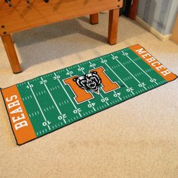 Mercer Bears Green Rink Runner Mat - 29x72