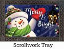 Indoor & Outdoor Merry & Bright Snowman Insert Doormat