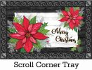 Indoor & Outdoor Christmas Poinsettia Insert Doormat-18x30
