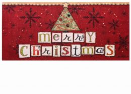 Sassafras Merry Christmas Switch Insert Doormat - 10 x 22