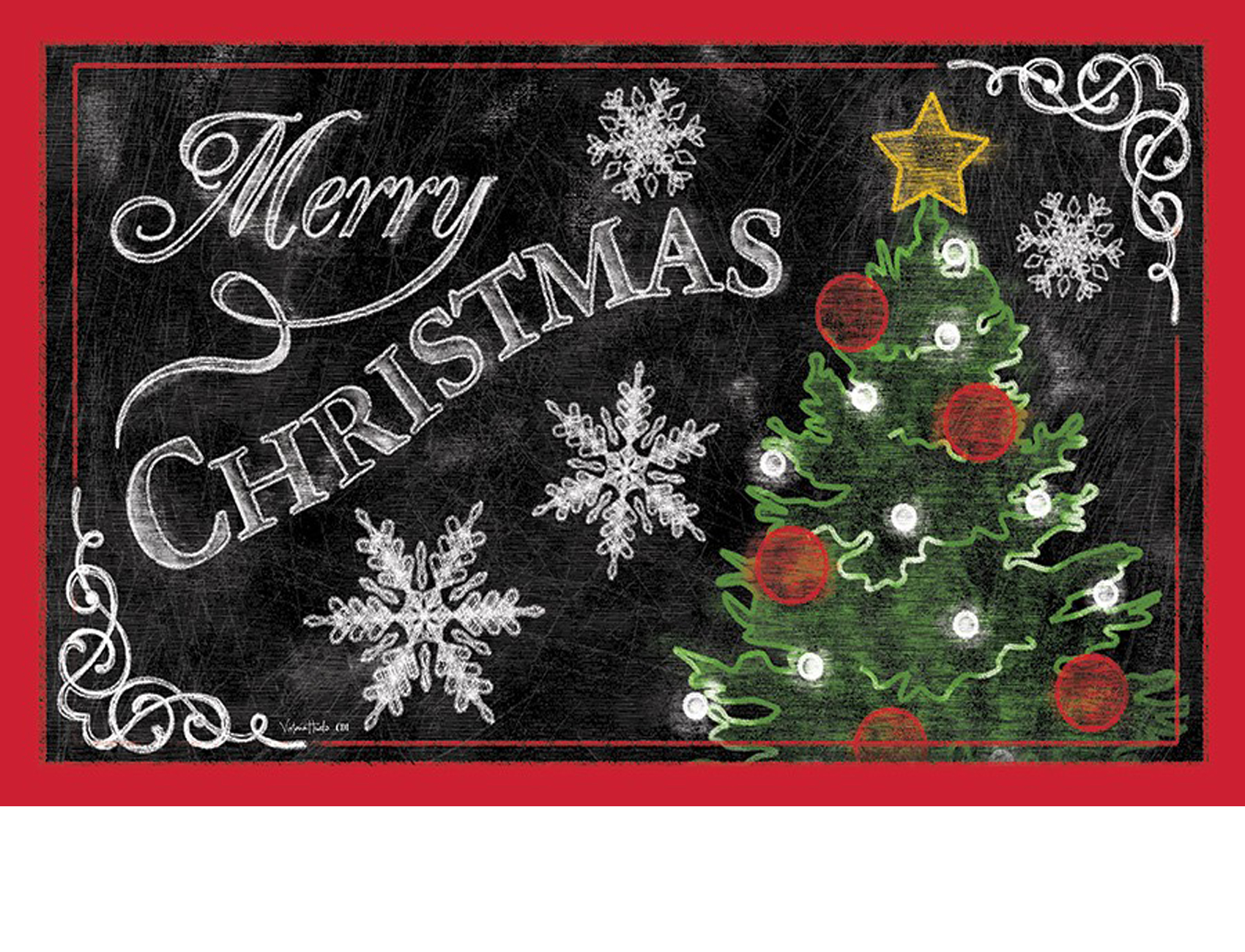 indoor amp outdoor merry christmas tree insert doormat