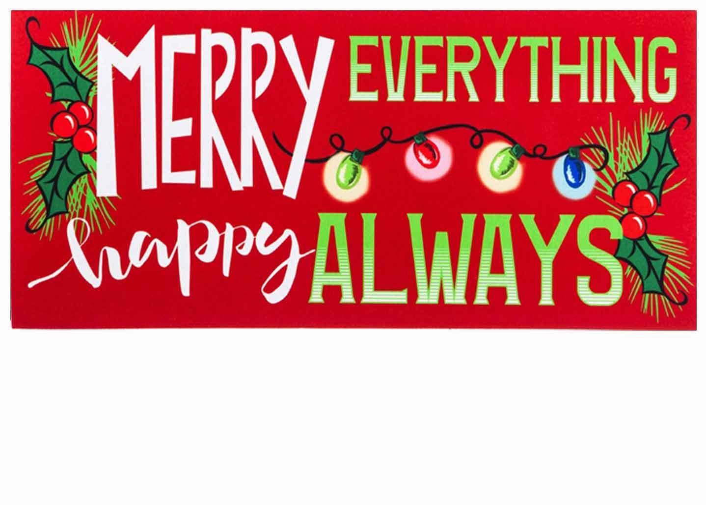 Sassafras Merry Everything Switch Doormat 10 X 22