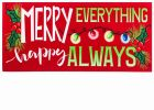 Sassafras Merry Everything Switch Doormat - 10 x 22