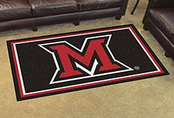 Miami of Ohio University Area rug - 4' x 6' Nylon