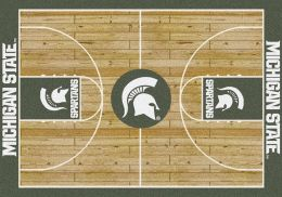 Michigan State Basketball Home Court Area Rug