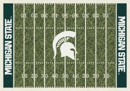 Michigan State Home Field Area Rug - Football Logo