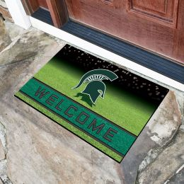 Michigan State University Flocked Rubber Doormat - 18 x 30