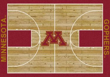 Minnesota Gophers Basketball Home Court Area Rug