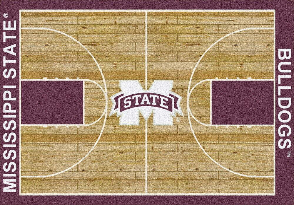 Mississippi State Bulldogs Home Court Area Rug - Football Logo
