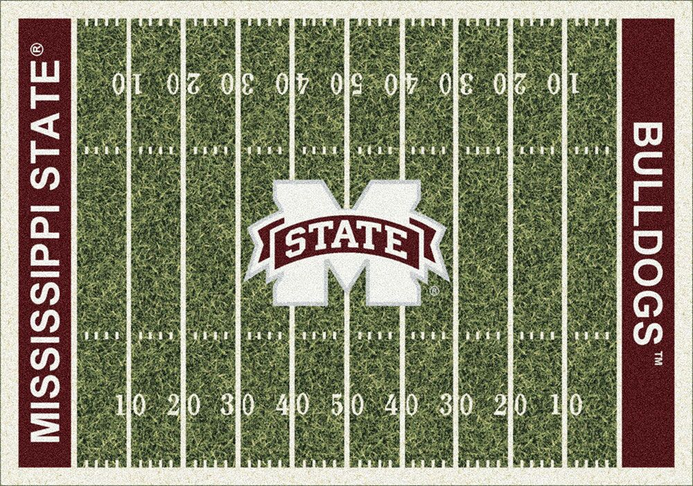 Mississippi State Bulldogs Home Field Area Rug Football Logo
