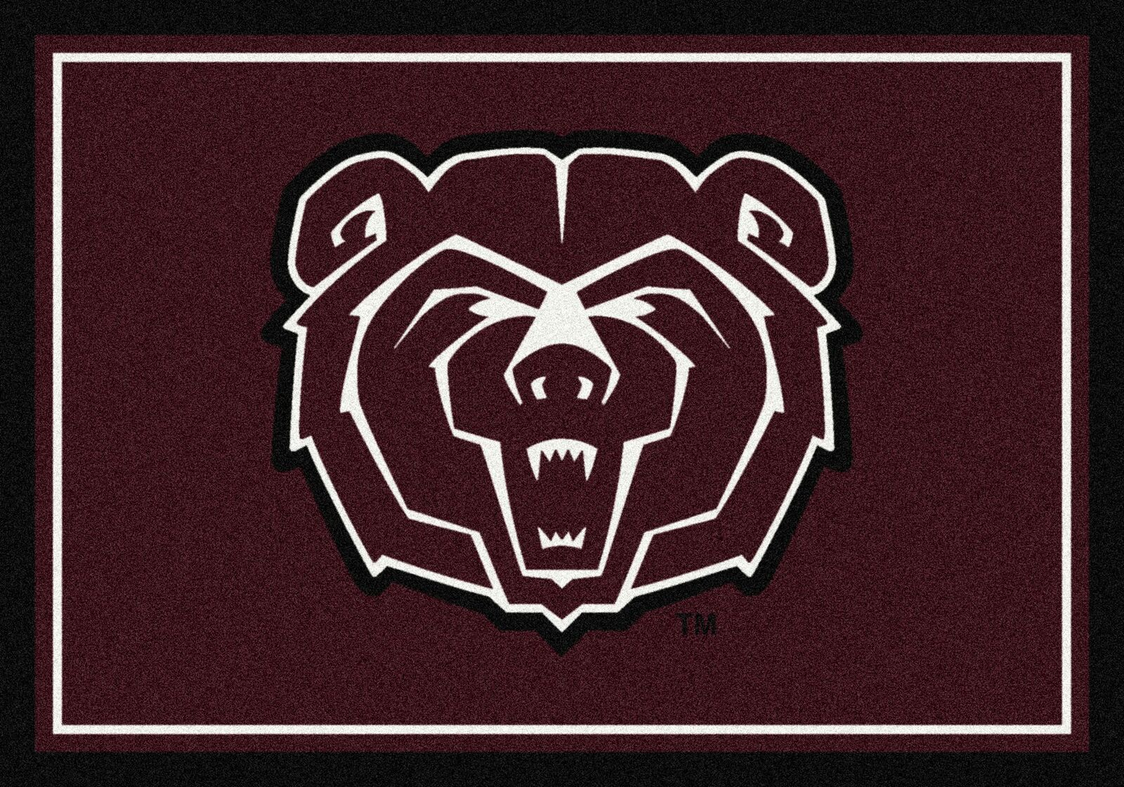 Missouri State University Bears Spirit Area Rug - Logo