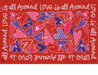 Indoor & Outdoor Mix it Up Valentine MatMate Doormat-18x30