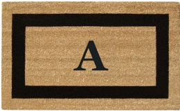Monogrammed SuperScraper Black Framed Coir Doormat