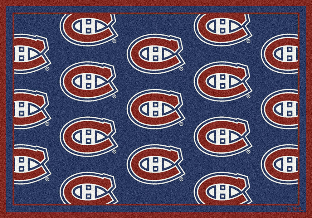 Montreal Canadiens Nhl Repeating Logo Nylon Area Rug