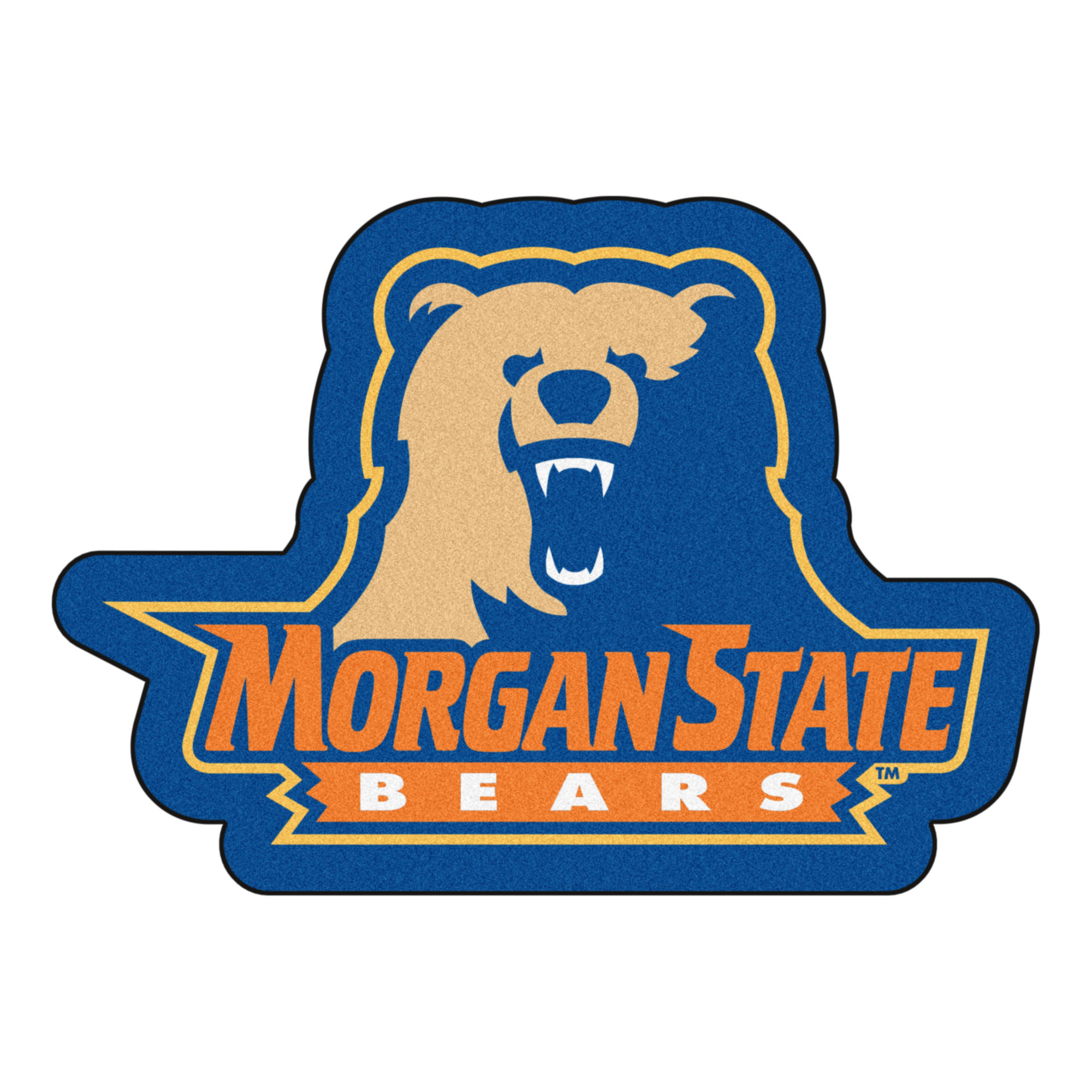 Morgan State University Bears Mascot Area Rug Nylon