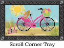 Indoor & Outdoor Morning Beach Ride MatMate Doormat - 18x30