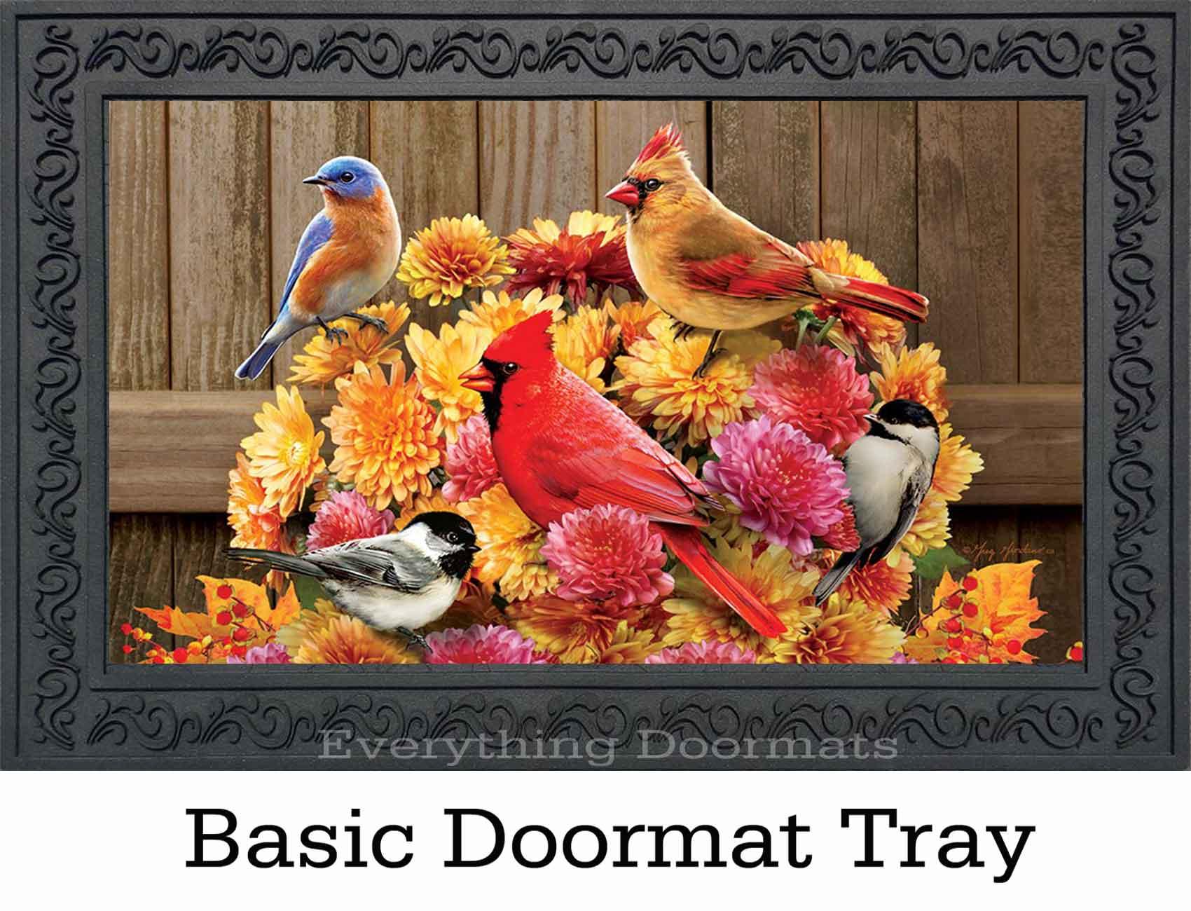 Indoor Amp Outdoor Mums Amp Birds Insert Doormat 18x30